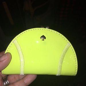kate spade tennis ball coin purse